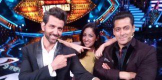 Salman Khan and Hrithik Roshan in Bigg Boss 10 Finale