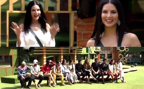 Sunny Leone with Bigg Boss 11 Contestants